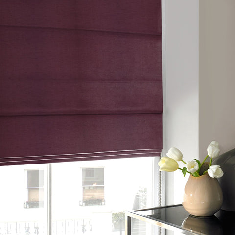 Art Silk Roman Blind Aubergine
