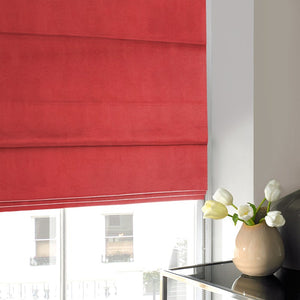 Art Silk Roman Blind Red
