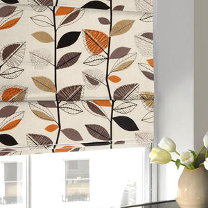 Autumn Leaves Roman Blind Amber