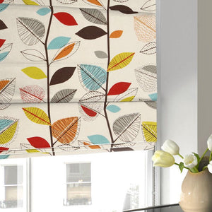Autumn Leaves Roman Blind Cinnamon