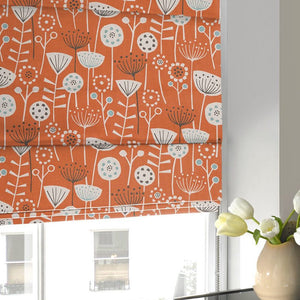 Bergen Roman Blind Burnt Orange
