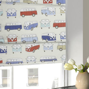 Campervans Roman Blind Blue
