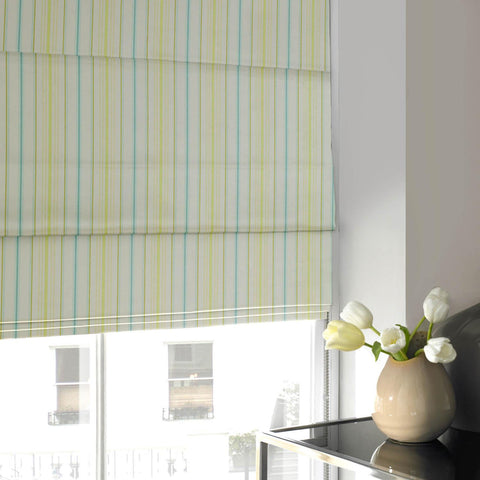Candy Stripe Roman Blind Spring