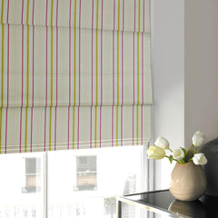 Candy Stripe Roman Blind Watermelon