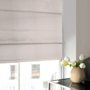 Dotty Roman Blind Taupe