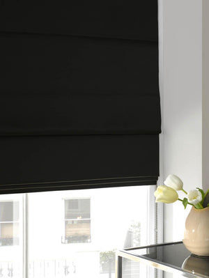 Faux Silk Roman Blind Graphite