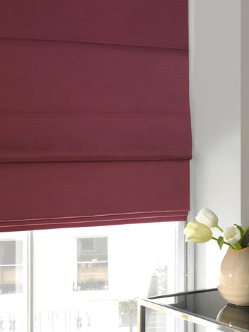 Faux Silk Roman Blind Hot Pink