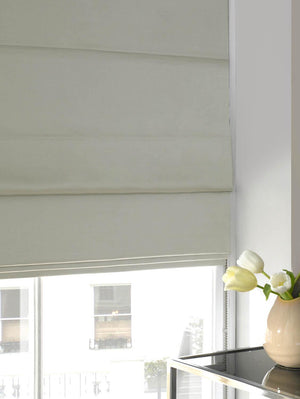 Faux Silk Roman Blind Plain Opal