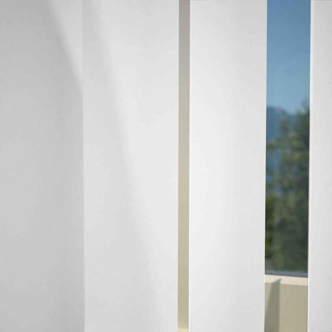 Kensington Plain Vertical Blind Snow