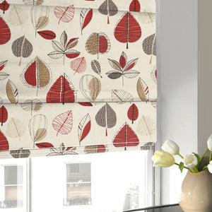 Maple Roman Blind Red Berry