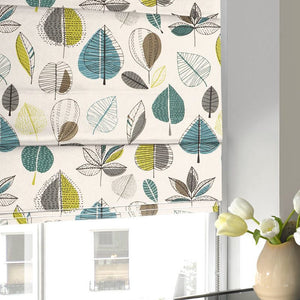 Maple Roman Blind Teal