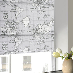 Maps Roman Blind Grey
