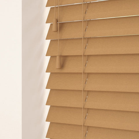 35mm Primary Wood Venetian Blinds Medium Oak