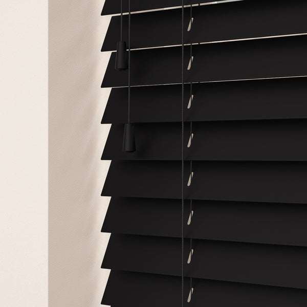 50mm Primary Wood Venetian Blinds Noir