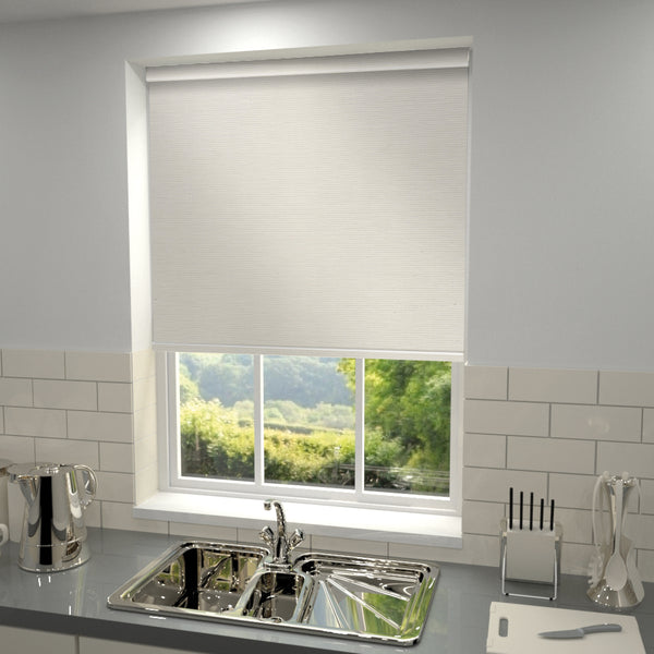 Elements Blackout Roller Blind Mist White