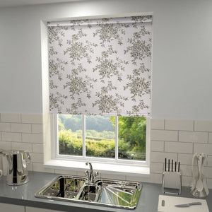 Rose Trellis Blackout Roller Blind Iris