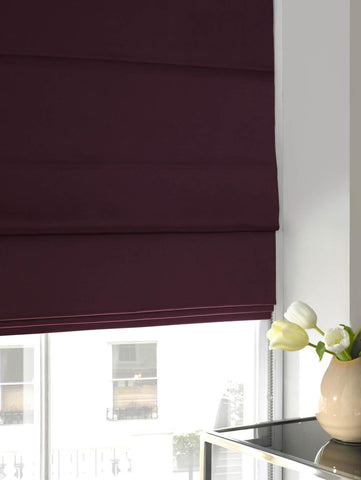 Satin Roman Blind Berry