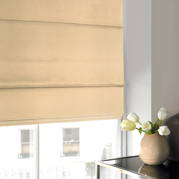 Silky Roman Blind Old Gold