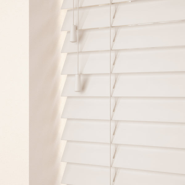 50mm Primary Wood Venetian Blinds Snow