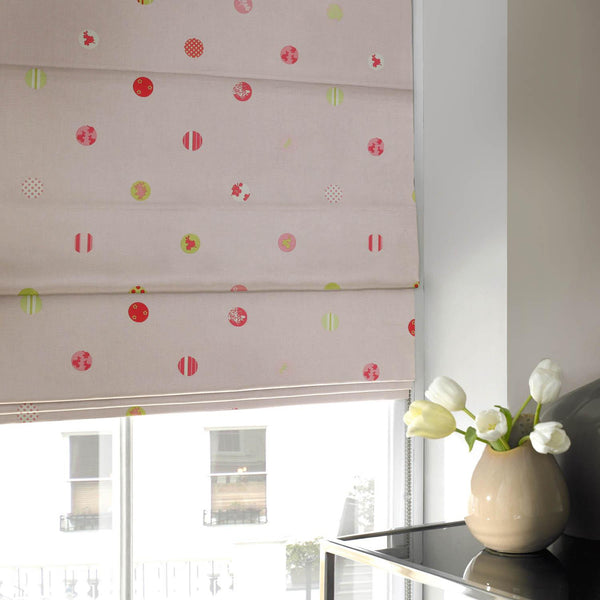 Spotty Roman Blind Watermelon Made To Measure Blinds Uk Delivery
