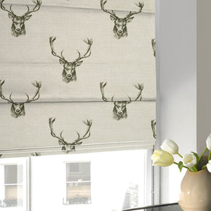 Stags Roman Blind Charcoal