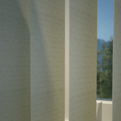 Hatch Vertical Blind Stone