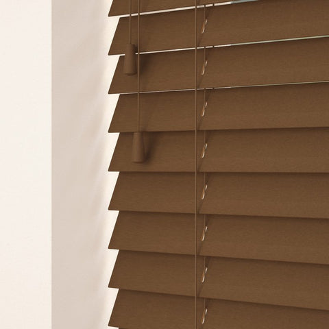 50mm Primary Wood Venetian Blinds Walnut