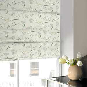 Warwick Roman Blind Forget Me Not