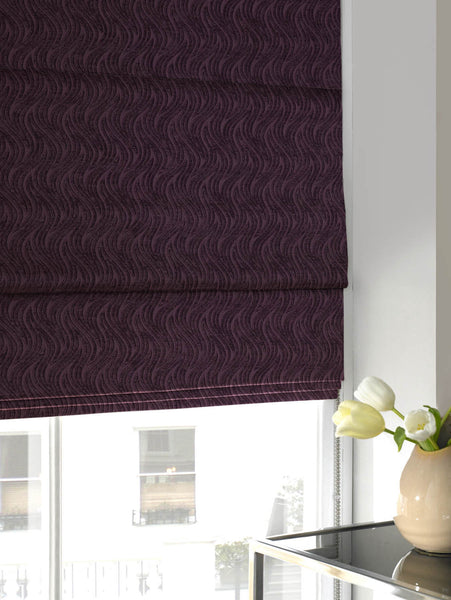 Wave Chenille Roman Blind Berry Free Sample