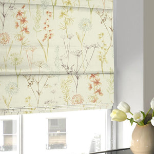 Wild Flower Roman Blind Terracotta