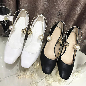 Metal Pearls Double Beads U Shape Ankle Shoes Accessory - Accessories for shoes
