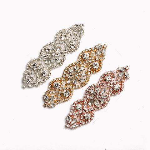 Handmade Crystal Rhinestones Appliques Patch - YS853 - Accessories for shoes