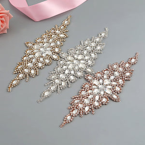 Handmade Crystal Rhinestones Appliques Patch - YS855 - Accessories for shoes