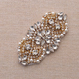 Handmade Crystal Rhinestones Appliques Patch - YS865 - Accessories for shoes