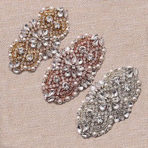 Handmade Rhinestones Appliques Patch - Style2 - Accessories for shoes