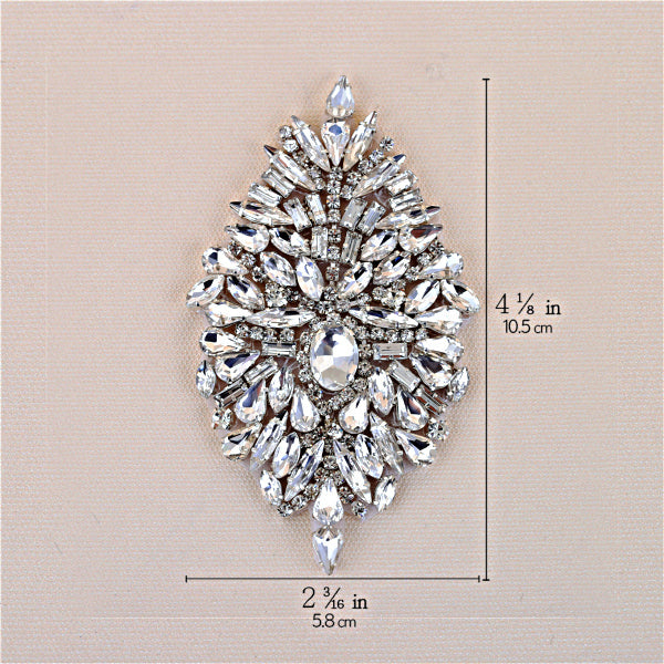 Handmade Rhinestones Appliques Patch - Style4 - Accessories for shoes