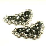 Arrowhead Black Rhinestone Shoe Clip - Accessories for shoes