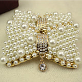 Pearl Rhinestone Bow Style Shoe Clip - Accessories for shoes