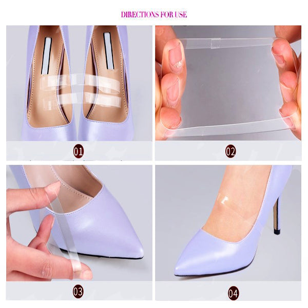 Invisible Soft Elastic Transparent Silicone Shoes Strap - Accessories for shoes