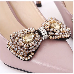 Elegant Crystal Bowknot - Accessories for shoes