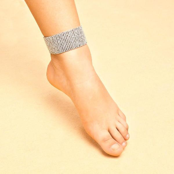 Rhinestone Anklet Bracelet Chain - Accessories for shoes