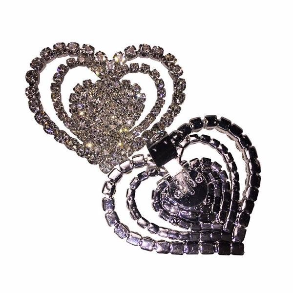 Triple Heart Rhinestone Shoe Clip - Accessories for shoes