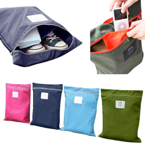 One-piece Multi-Purpose Portable Waterproof Travel Tote Toiletries Laundry Shoe Pouch Storage Bag - Accessories for shoes