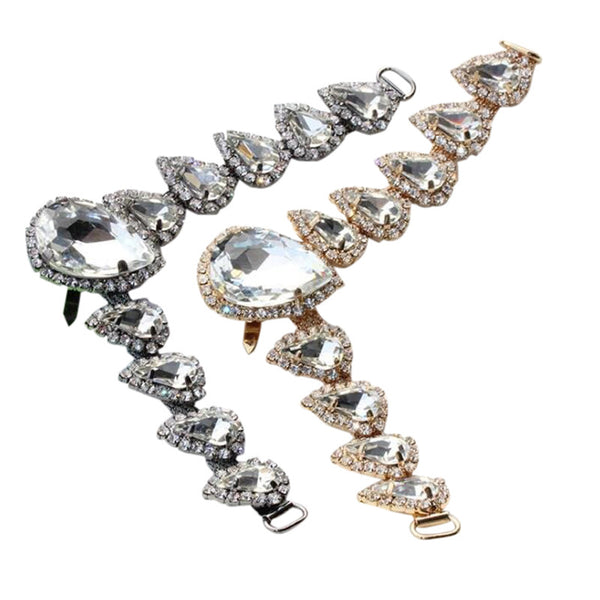One-pair High-grade Metal Diamond Chain For Clothing Bags Shoes DIY Accessories - Accessories for shoes
