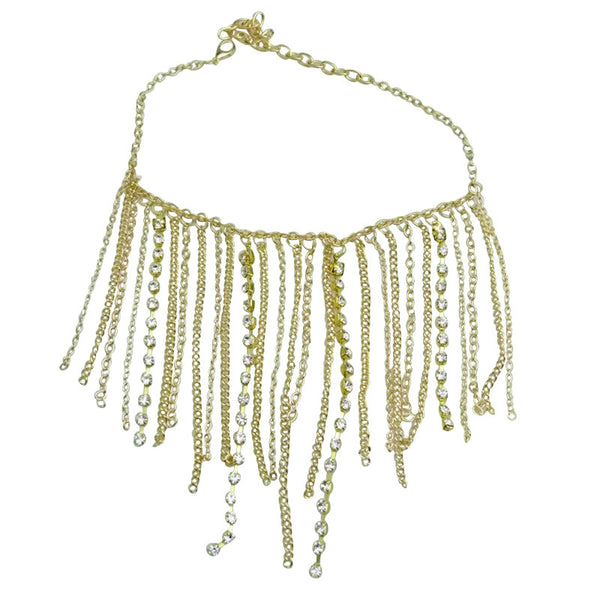 One-pair Metal Tassel Diamond Chain