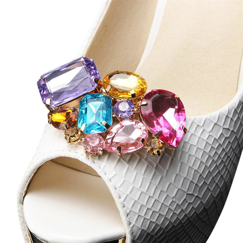 One-pair Colorful & Clear Acrylic Shoe Clip
