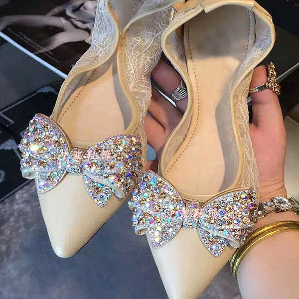 Crystal Butterfly Bow-knot Shoe Decoration - Glue On - Accessories for shoes
