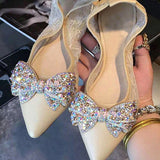Crystal Butterfly Bow-knot Shoe Decoration - Glue On