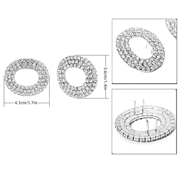 Crystal Oval Shoe Buckle - Accessories for shoes