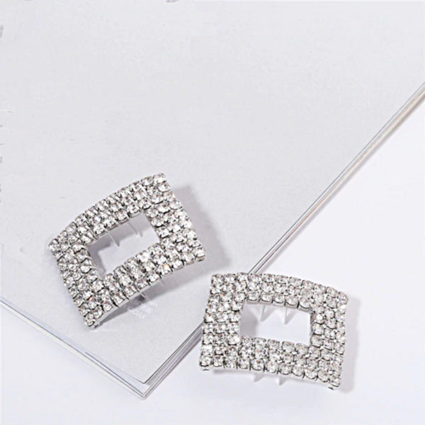 Crystal Rectangle Shoe Buckle - Accessories for shoes